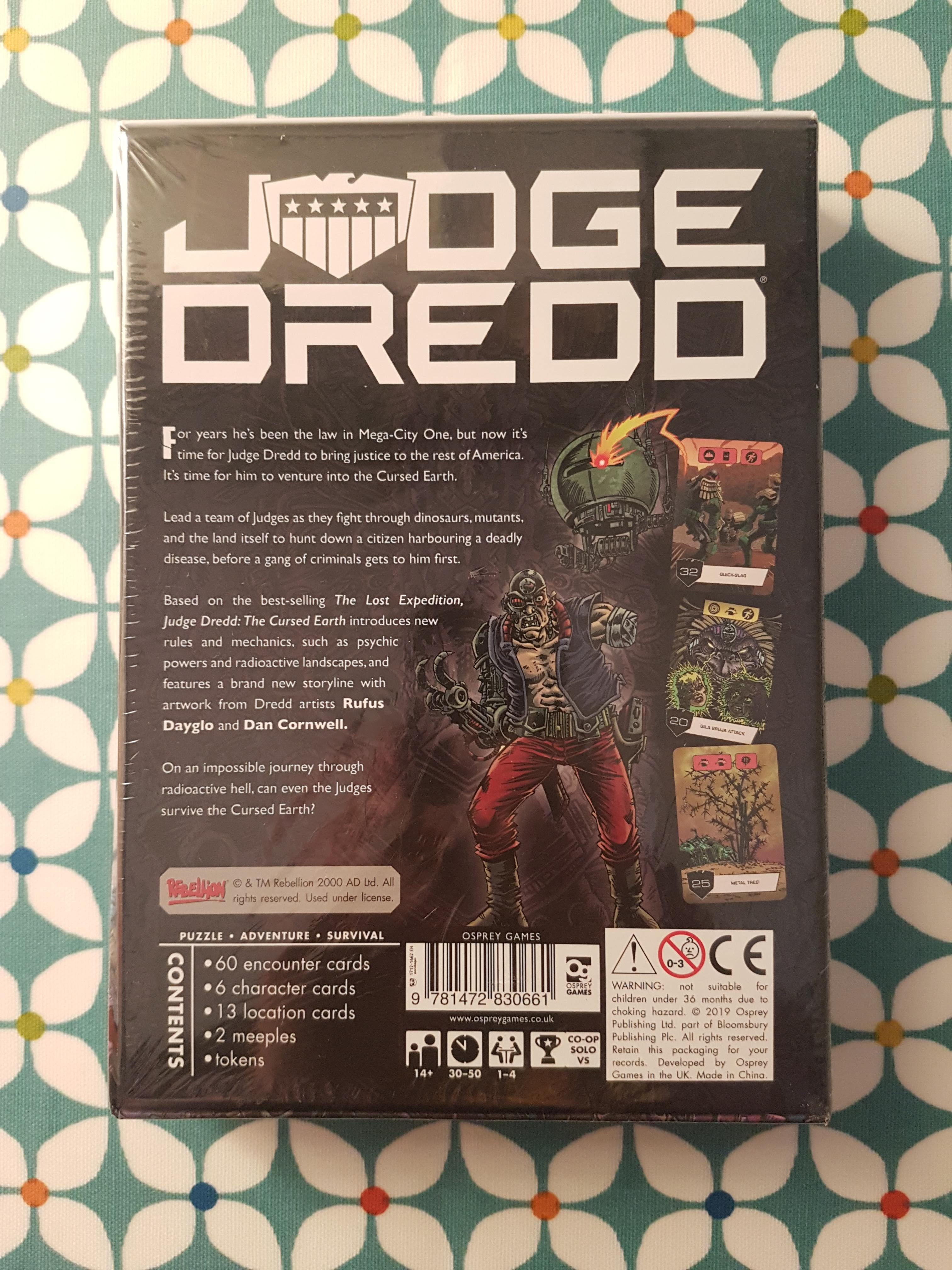 Judge Dredd: The Cursed Earth reverse of box